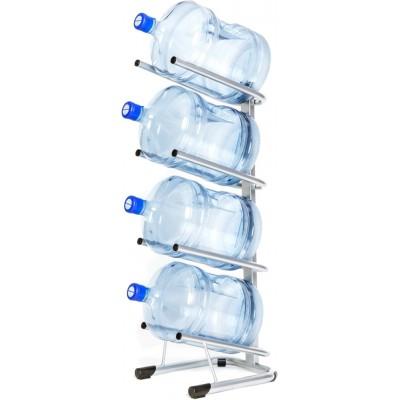Стойка для 4 бутылей по 19 литров (серебро)
